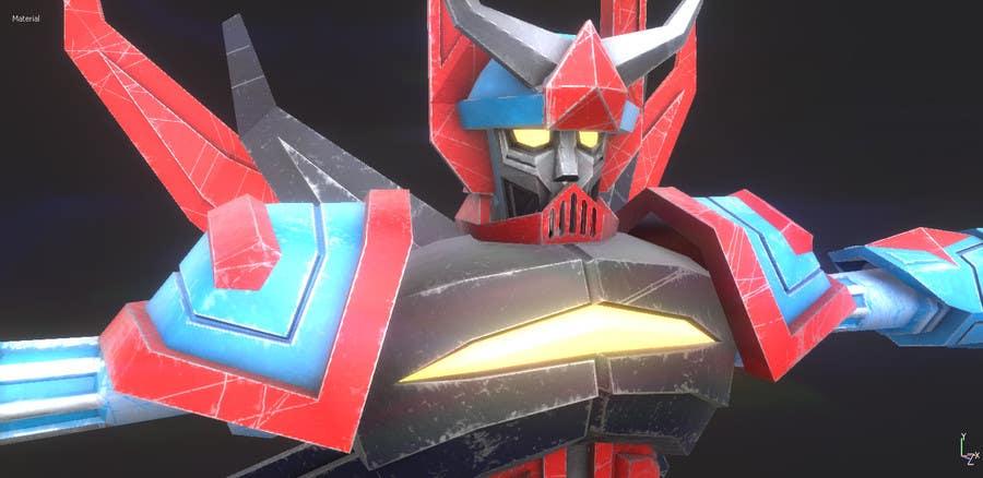 Bài tham dự cuộc thi #                                        27                                      cho                                         Anime Super Robot 3D Model Textured Rigged