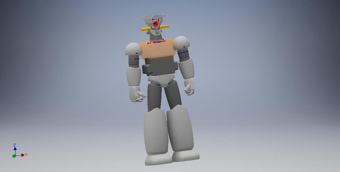 Entry #4 by engyoussief for Anime Super Robot 3D Model