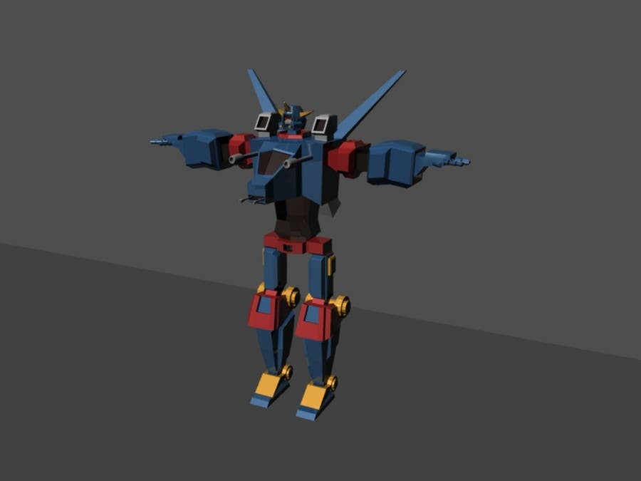 Entry #15 by sillaboy for Anime Super Robot 3D Model Textured Rigged