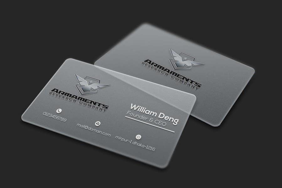 Entry 21 by tariqulgm for design plasticclear business cards design plasticclear business cards colourmoves