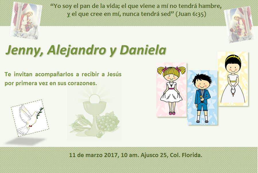 Entry 19 By Marialechar For Invitacion Primera Comunion Y