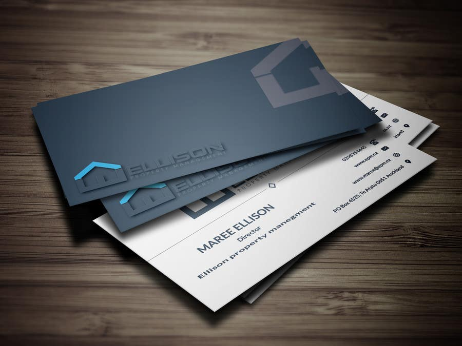 Entry #286 by anik1122 for Ellison Property Management Business Card ...