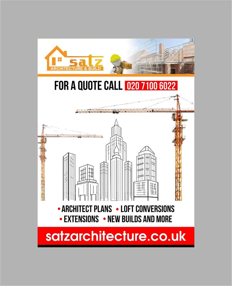 entry #25shrey0017 for design a large banner for construction