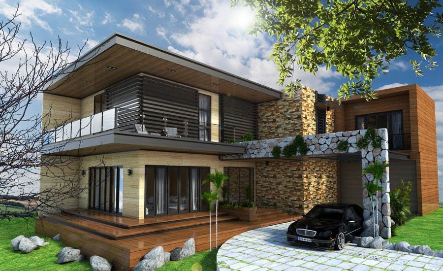 Contest Entry #60 For Home Exterior 3D Design
