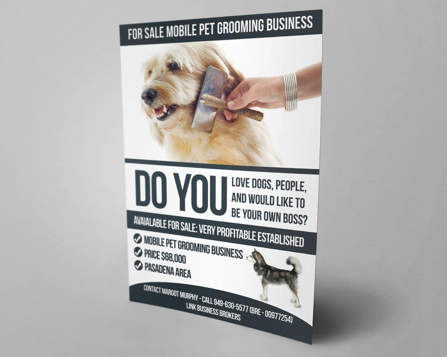 Entry #3 by mnagm001 for Design a Flyer (Mobile Pet Grooming