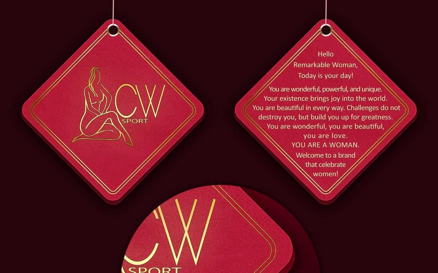 Inscrição nº                                         18                                      do Concurso para                                         Create hang tag for clothing, backdrop, and Packaging Designs