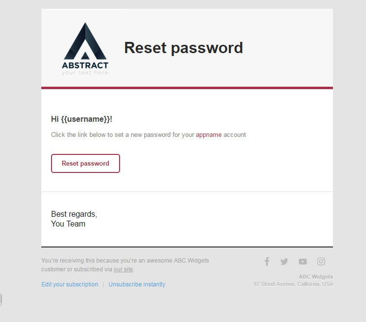 Entry 9 By Gixo For Create Reset Password Verify Email And