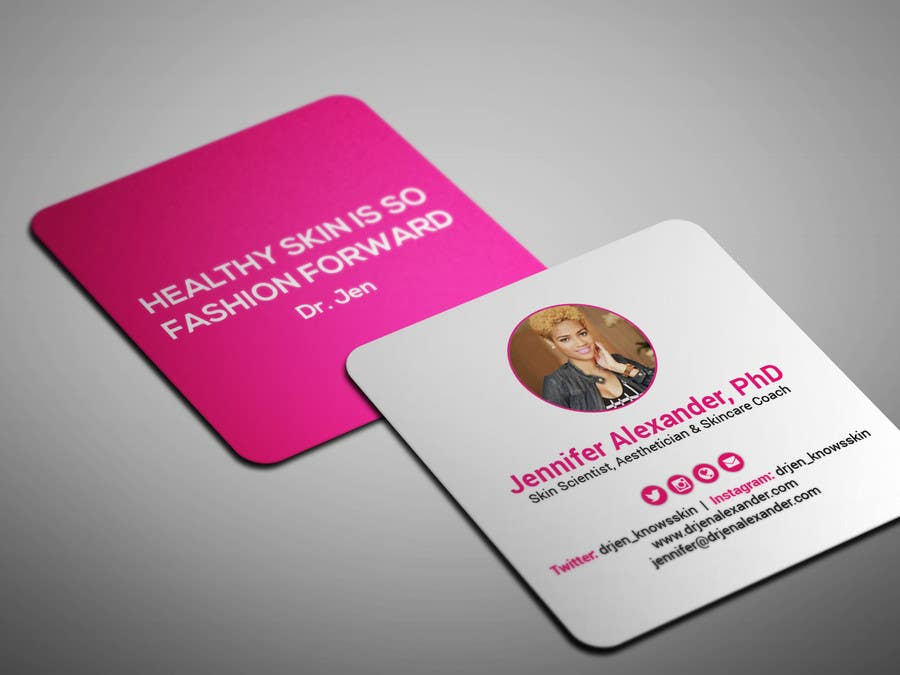 entry 17 by smartghart for design personal business cards square