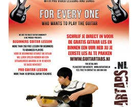 #32 untuk Flyer Design for Gitaartabs.nl an online guitar community with pro vido lesson and songs oleh xhzad