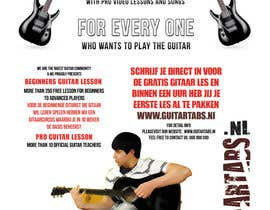 #33 untuk Flyer Design for Gitaartabs.nl an online guitar community with pro vido lesson and songs oleh xhzad