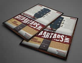 #16 untuk Flyer Design for Gitaartabs.nl an online guitar community with pro vido lesson and songs oleh thuanbui