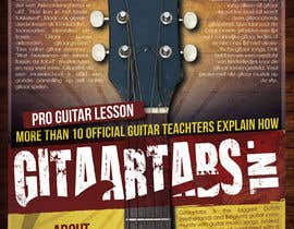 #19 for Flyer Design for Gitaartabs.nl an online guitar community with pro vido lesson and songs af thuanbui