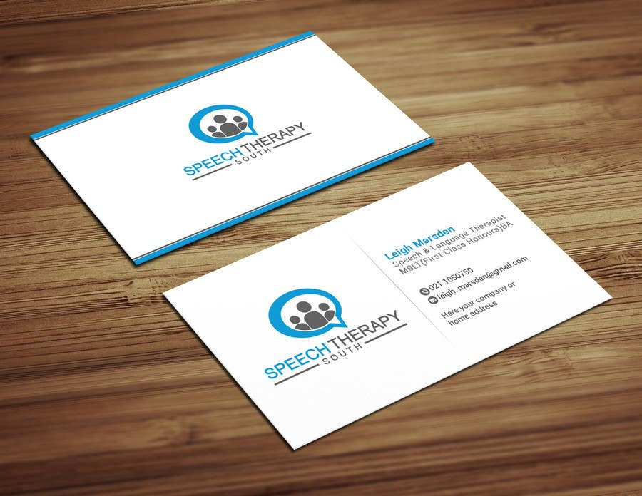 Entry #2 by shopon15haque for Design a business card for a speech ...