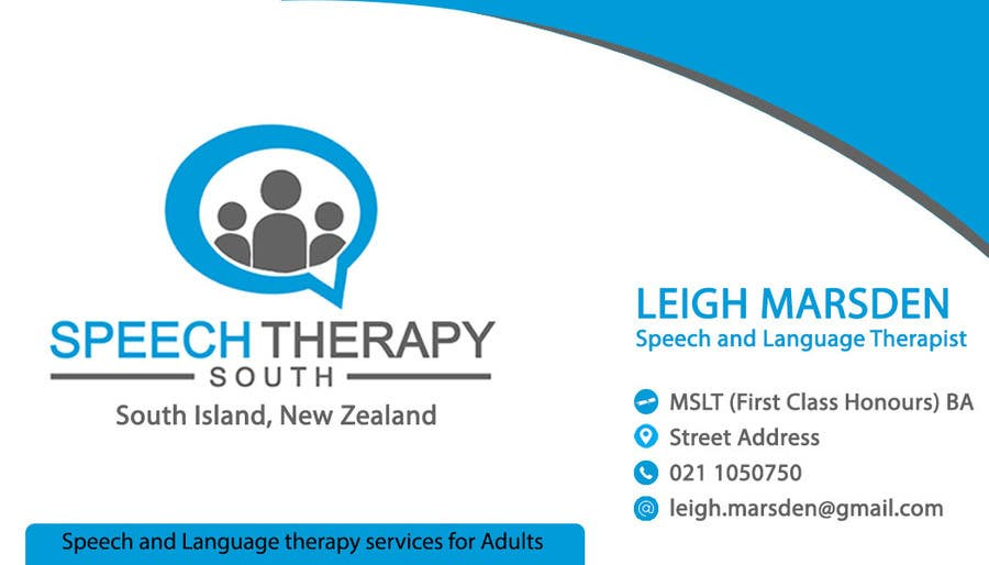 Entry 61 By Sajanrockz For Design A Business Card For A Speech Therapy Business Freelancer