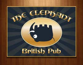 #203 untuk Logo Design for The Elephant British Pub oleh twocats