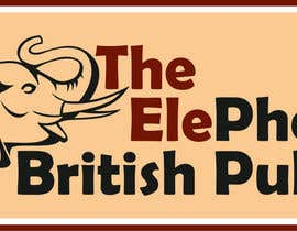 #210 untuk Logo Design for The Elephant British Pub oleh simonshy
