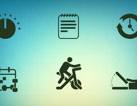 jayrathod2 tarafından Design icon set for Personal Trainer fitness app için no 10
