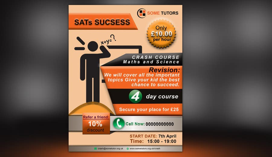 Entry  By Parvezraton For Design A Tutoring Flyer With Logo Size