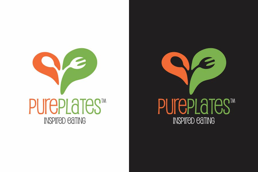 """Proposition n°162 du concours Logo Design for """"Pure Plates ... Inspired Eating"""" (with trade mark bug)"""