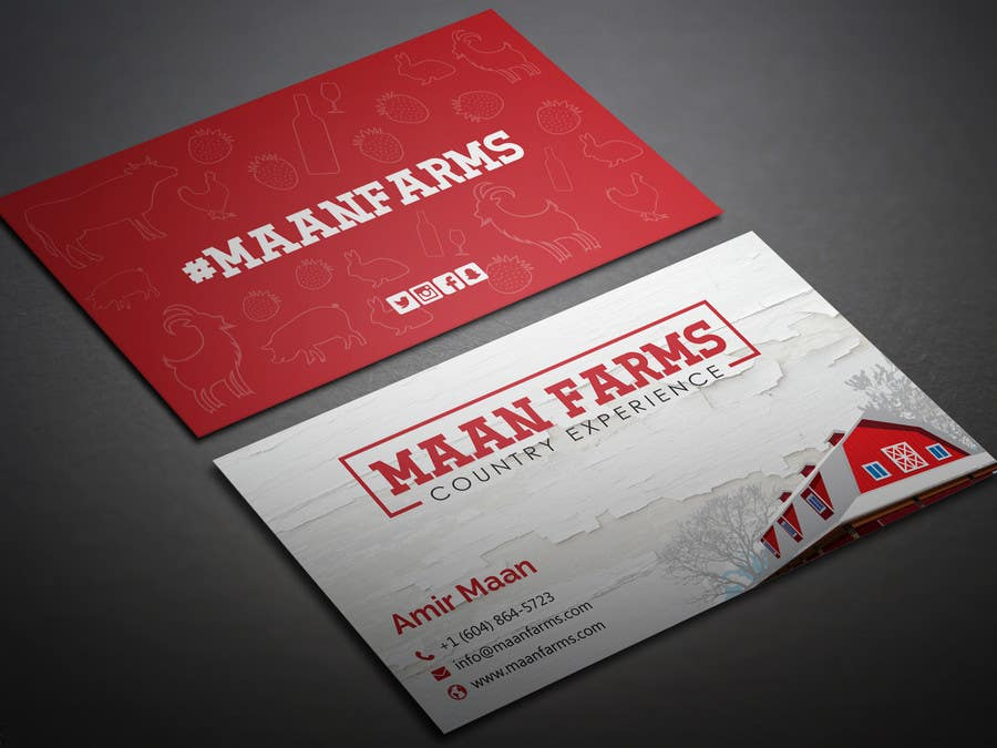 Entry #286 by BikashBapon for Modern Country Business Card ...