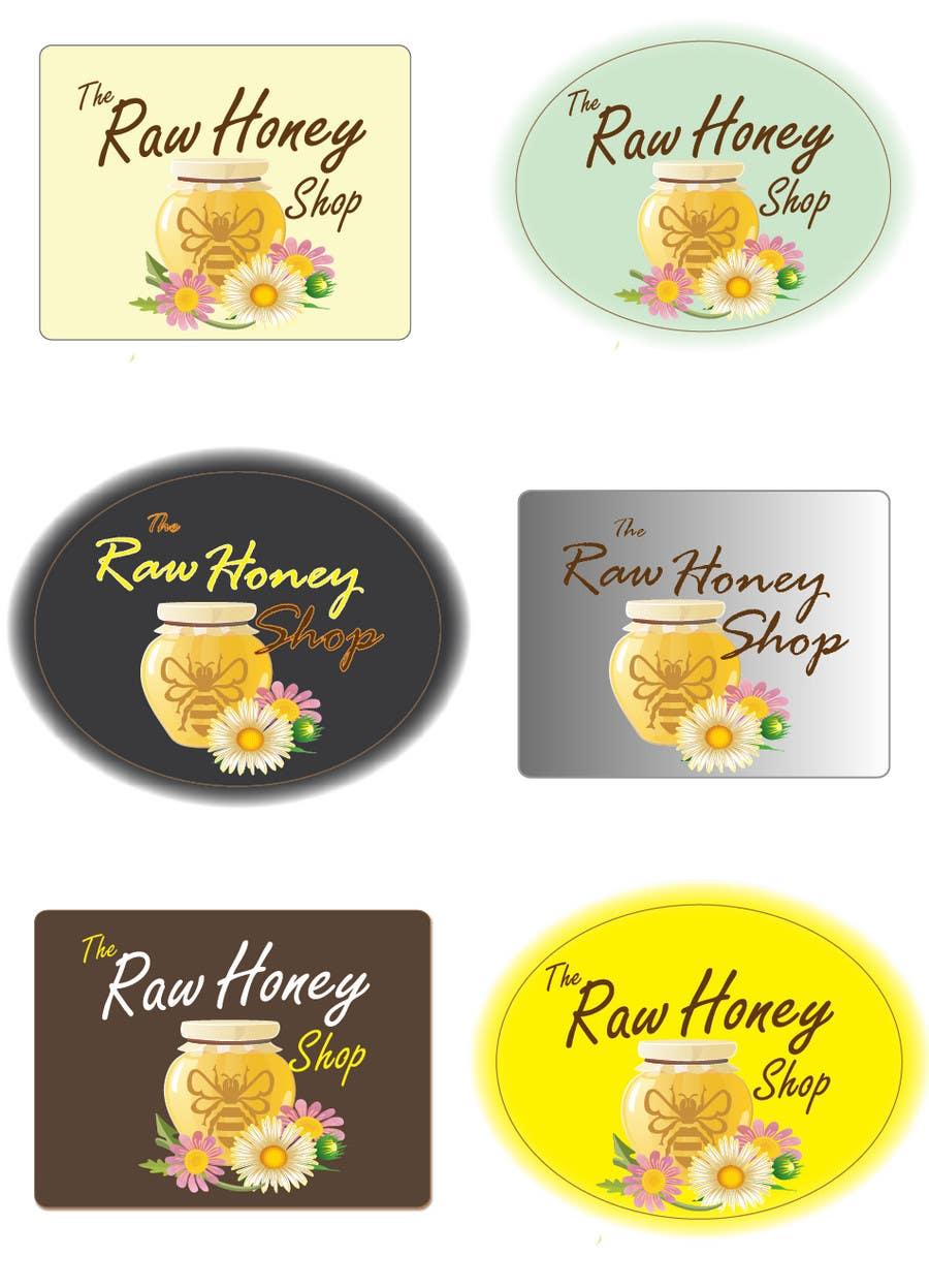 Proposition n°                                        410                                      du concours                                         Logo Design for The Raw Honey Shop