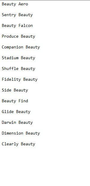 Beauty Names