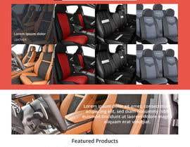 #26 untuk Design a Website Mockup for an auto seat cover manufacturer oleh ShkodranArifi