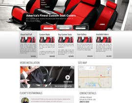 #19 untuk Design a Website Mockup for an auto seat cover manufacturer oleh webmastersud
