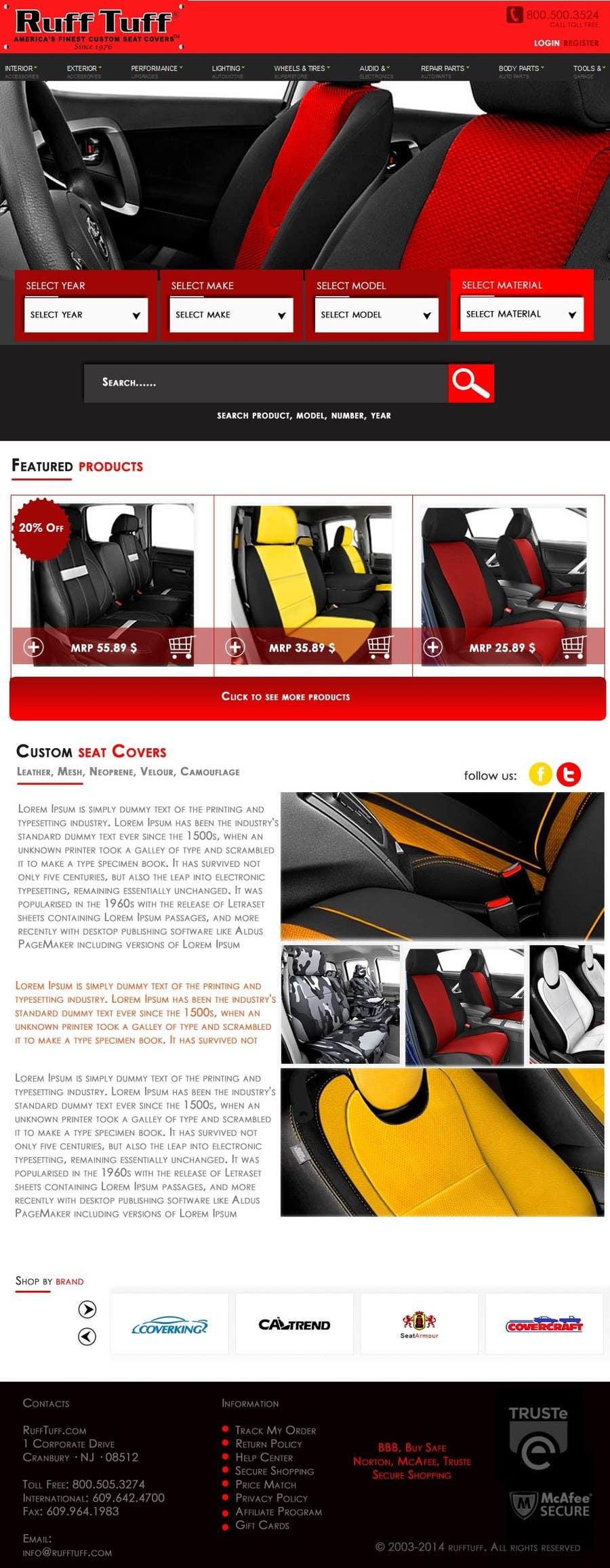 Penyertaan Peraduan #                                        12                                      untuk                                         Design a Website Mockup for an auto seat cover manufacturer