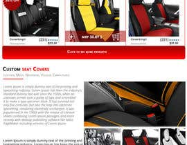 #31 untuk Design a Website Mockup for an auto seat cover manufacturer oleh amitedu