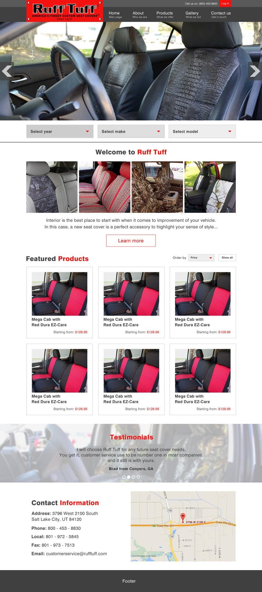 Penyertaan Peraduan #                                        4                                      untuk                                         Design a Website Mockup for an auto seat cover manufacturer