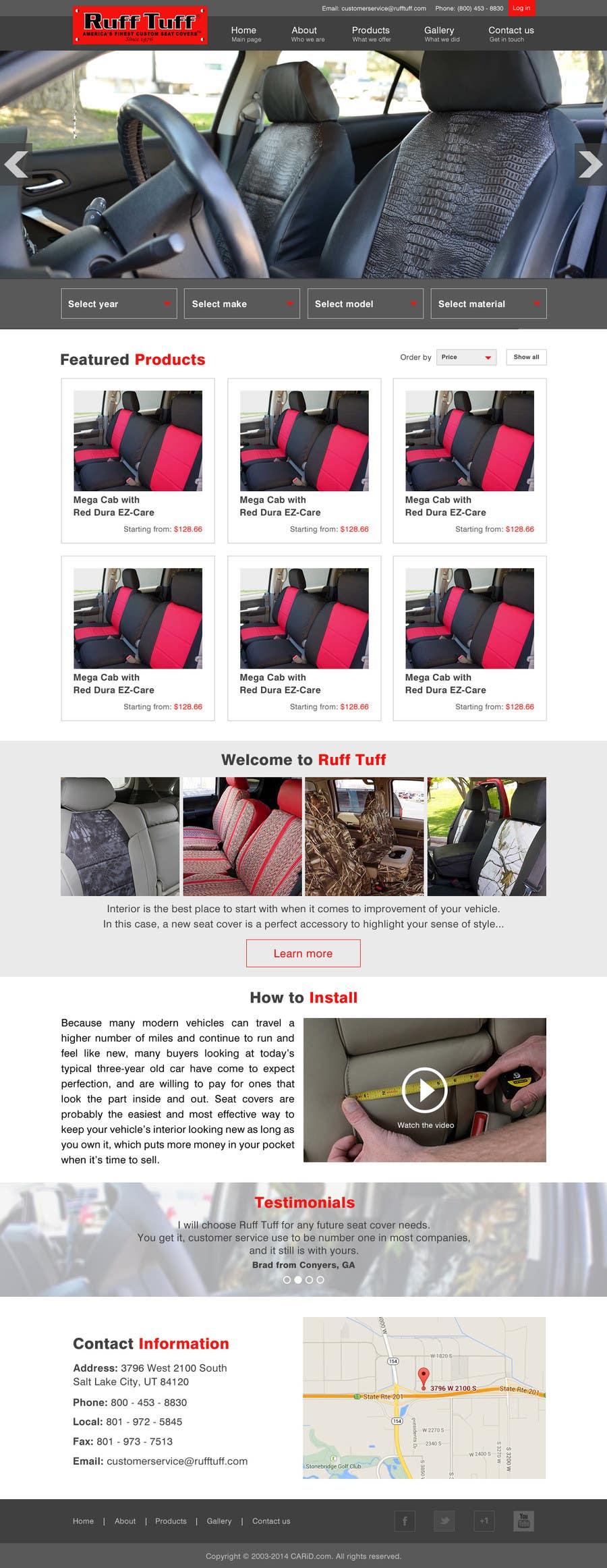 Penyertaan Peraduan #                                        6                                      untuk                                         Design a Website Mockup for an auto seat cover manufacturer