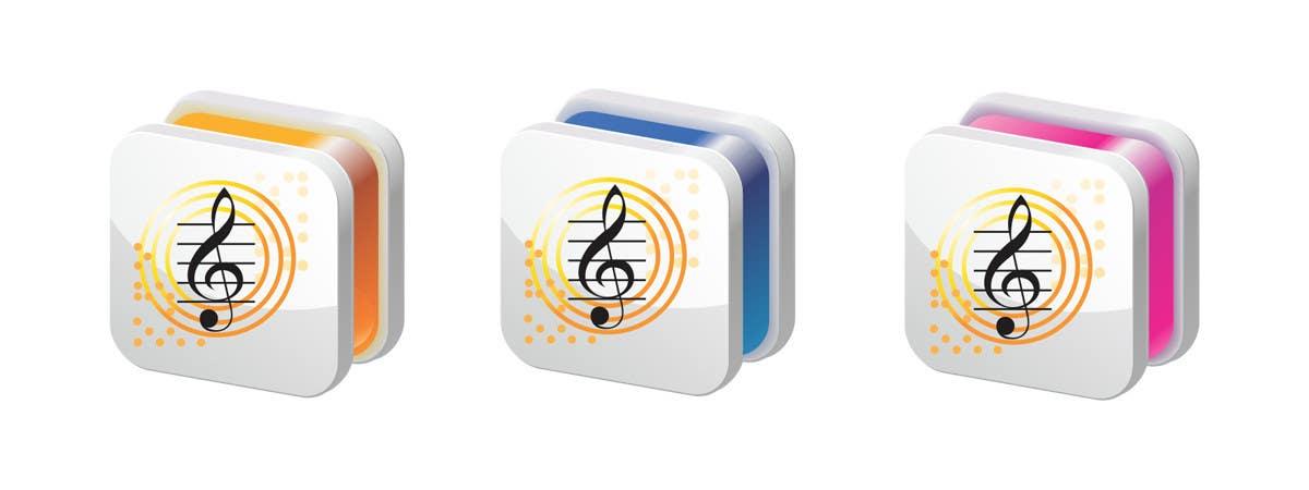 Kilpailutyö #                                        45                                      kilpailussa                                         iPhone/iPad app icon design for music player