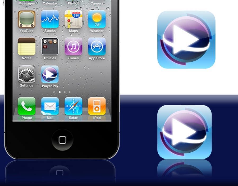 Kilpailutyö #                                        27                                      kilpailussa                                         iPhone/iPad app icon design for music player