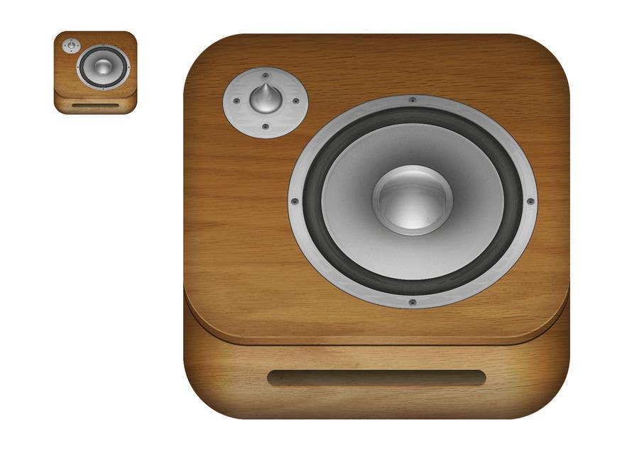 Kilpailutyö #                                        59                                      kilpailussa                                         iPhone/iPad app icon design for music player