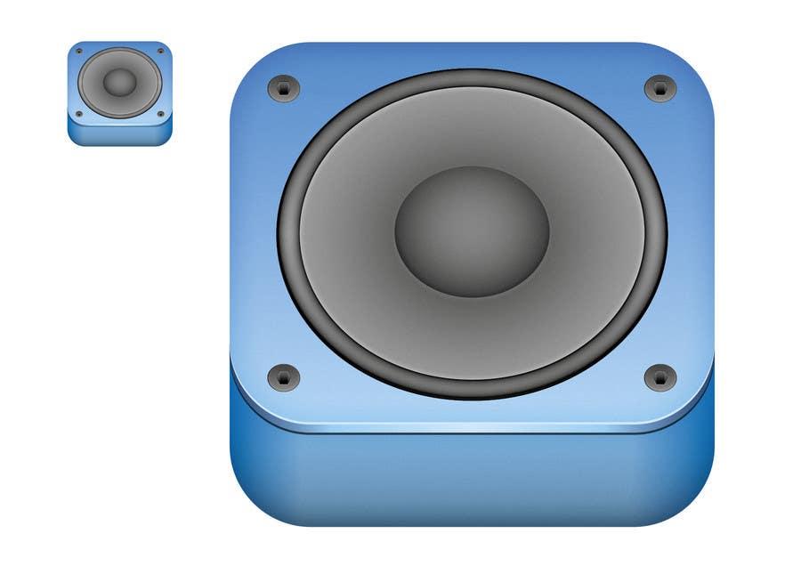 Kilpailutyö #                                        36                                      kilpailussa                                         iPhone/iPad app icon design for music player