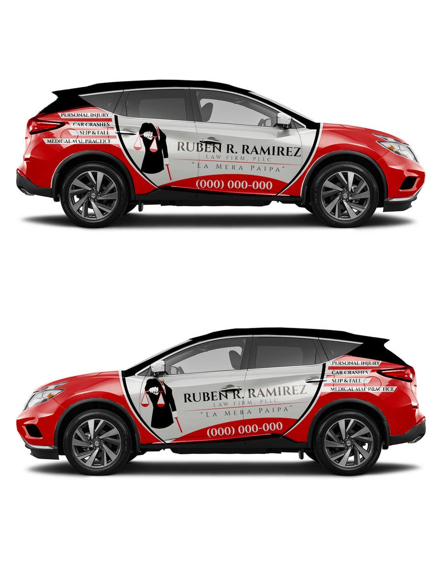 A design a vehicle wrap sticker vector and template for Car wrap design templates