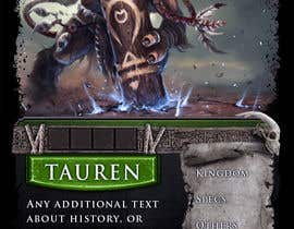 #30 for Trading card game template design with two different backgorunds and the back of the card designed by rozq