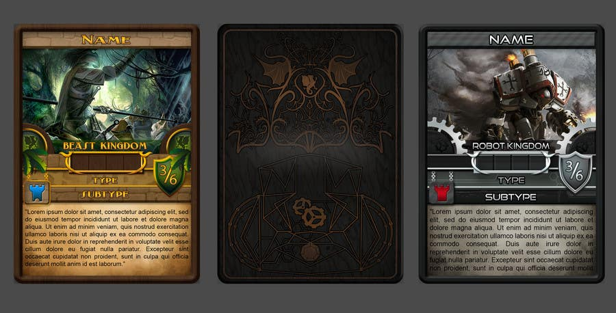 Entry #18 By Jorzsitse For Trading Card Game Template Design With