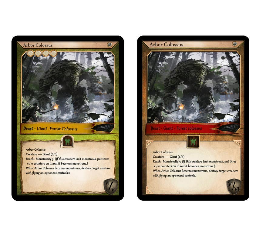 Entry  By Ivek For Trading Card Game Template Design With