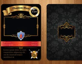 #16 for Trading card game template design with two different backgorunds and the back of the card designed by webomagus