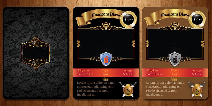Entry  By Webomagus For Trading Card Game Template Design With