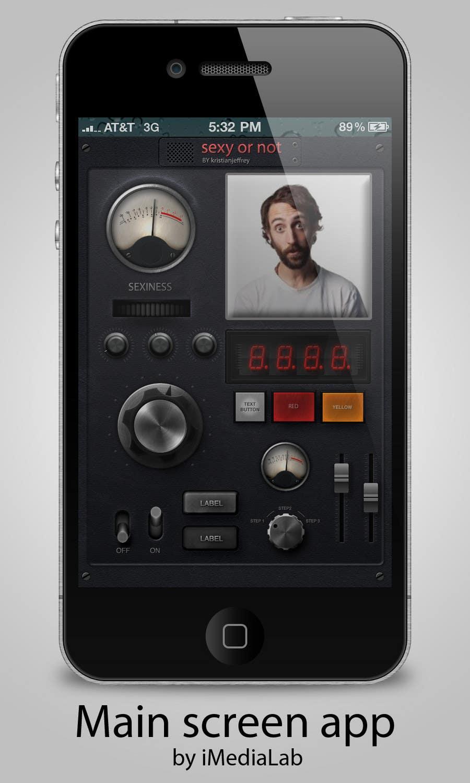 Kilpailutyö #                                        1                                      kilpailussa                                         Create a Main screen for an app that a crazy inventor would create!