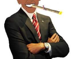 #2 para Barack Obama Smoking T-shirt por db1404