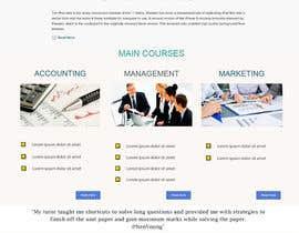 "#22 untuk Design a Website Mockup for ""Queensford College"" oleh deepasreeba"