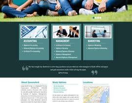 "#32 untuk Design a Website Mockup for ""Queensford College"" oleh webmastersud"