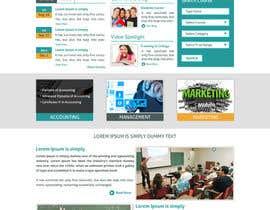 "#17 untuk Design a Website Mockup for ""Queensford College"" oleh arunkoshti"