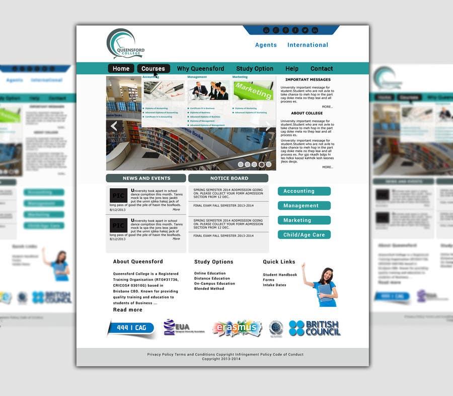 "Penyertaan Peraduan #                                        11                                      untuk                                         Design a Website Mockup for ""Queensford College"""