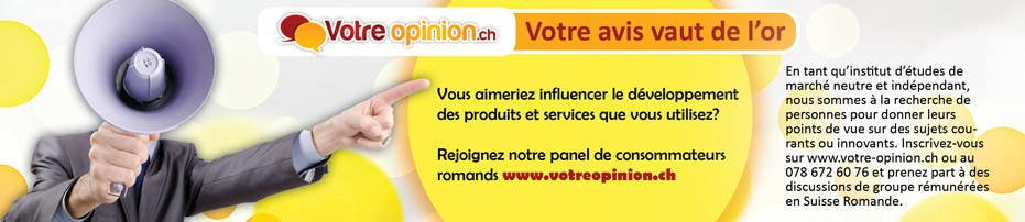 Konkurrenceindlæg #                                        21                                      for                                         Advertisement Design for www.votre-opinion.ch