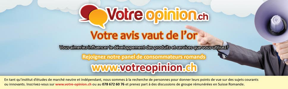 Konkurrenceindlæg #                                        28                                      for                                         Advertisement Design for www.votre-opinion.ch